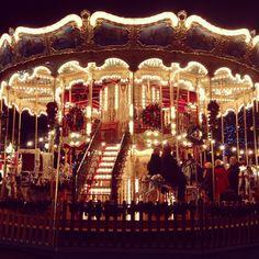 Traditional fair ground ride at Edinburgh's Christmas Market