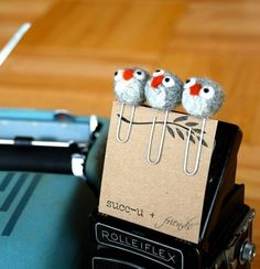 Owl paper clips, three little cuties!