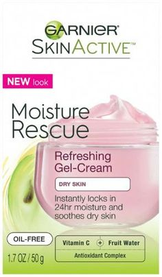 Garnier SkinActive Moisture Rescue Refreshing Gel-Cream for Dry Skin, Ounces ** You can find more details by visiting the image link. (This is an affiliate link) Oil For Dry Skin, Cream For Dry Skin, Moisturizer For Dry Skin, Oily Skin, Skin Gel, Skin Toner, Organic Skin Care, Good Skin, Healthy Skin