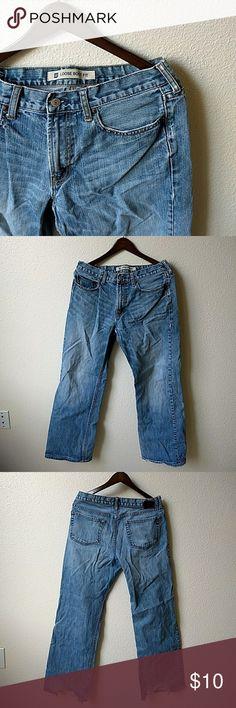 GAP • Mens Jeans Gap Distressed Jeans. Loose Boot fit 34 ×34 GAP Jeans Bootcut