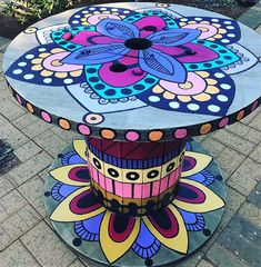 pallet cable spool artistic table