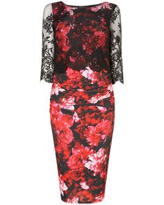 Amelia Over-print Lace Dress