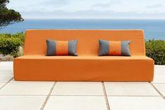 Shop for Handmade Softblock Lowboy Orange Sofa. Get free delivery On EVERYTHING* Overstock - Your Online Garden & Patio Shop! Orange Sofa, Orange Cushions, Outdoor Seating, Indoor Outdoor, Outdoor Sofas, Outdoor Fabric, Outdoor Spaces, Lowboy, Sofa Price