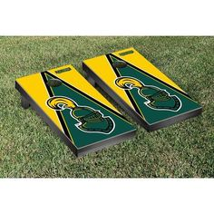 Victory Tailgate NCAA Triangle Version Cornhole Game Set NCAA Team  Clarkson  University Golden Knights d3479bab0
