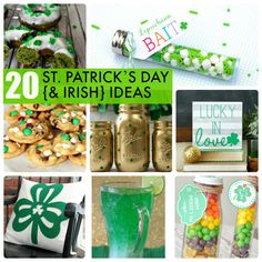 Check out these great ideas - 20 St. Patrick's Day {& Irish} Ideas -- recipes, decor and more! -- Tatertots and Jello