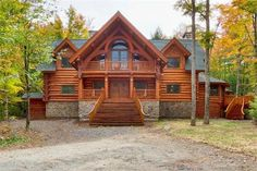 I love Maine and have always wanted a log home.  All I need is two million dollars!