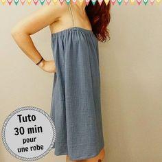 tuto robe en double gaze couture - Tuto gratuit Atelier de la création
