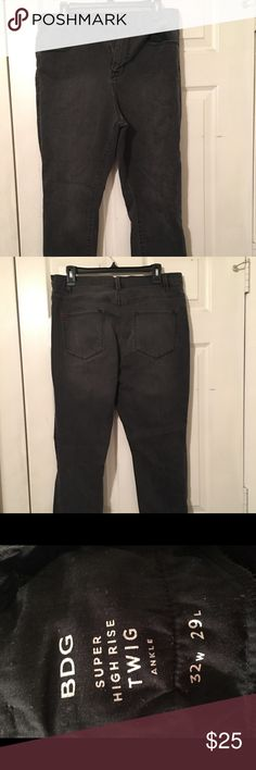 Black/grey wash high waist jeans These jeans are really stretchy and a great fit! BDG Jeans Skinny
