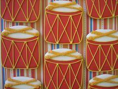 drum sugar cookies | drum cookies by decadent cookie, via Flickr