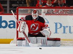 NEWARK, NJ - NOVEMBER 12: Cory Schneider #35 of the New Jersey Devils eyes the puck while defending the net against the Buffalo Sabres during the game at Prudential Center on November 12, 2016 in Newark, New Jersey. (Photo by Paul Bereswill/NHLI via Getty Images)