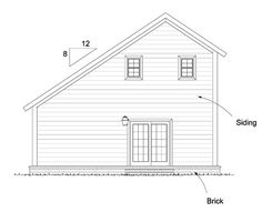 Contemporary Traditional House Plan 68570 Rear Elevation