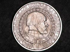 Sweden coins 2 Kronor Silver Commemorative coin of 1921, King Gustav Vasa