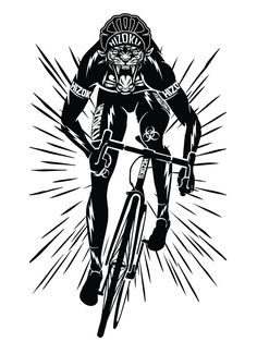 Limited Edition Beast Mode 13 x 19 Poster Print Bicycle Illustration, Vintage Illustration Art, Bicycle Painting, Bicycle Art, Urban Cycling, Cycling Art, Poster On, Poster Prints, Arte Zombie