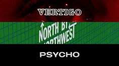 Saul Bass' title sequences for Alfred Hitchcocks Vertigo (1958), North by Northwest (1959), and Psycho (1960).