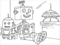 Tô màu mô hình ROBOT 1 - Giá bán: 15.000 vnđ | Tô màu - Coloring ...