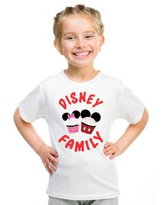 What's more charming than a cupcake? A cupcake featuring the two most beloved Disney characters ever! This t-shirt combines the sweet charm of a cupcake with the magical appeal of Mickey and Minnie, making this a must-have for any Disney fan. Buy it in White or Royal Blue for your little prince or princess, depending on their color preference. Makes a sweet gift for themed birthday parties, family trips to the Magic Kingdom, or for family photographs.