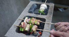 cinder block hibachi grill