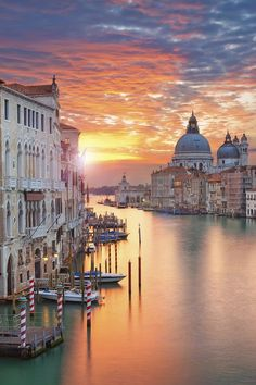 The sunrise in Venice, Italy