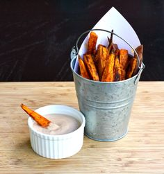 Chipotle Sweet Potato Fries with Adobo Chipotle Dipping Sauce