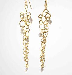 Rosanne Pugliese layered circle vine earrings