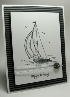 Sail Away..cards for men challenge by lhs43 - Cards and Paper Crafts at Splitcoaststampers