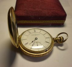 Antique Aurora Pocket Watch - 7.5 Jewels from virtualmemories on Ruby Lane