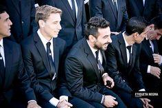 ¿Qué diseñadores visten a los jugadores del Mundial?  Los jugadores argentinos, ¡impresionantes!.  /Gentileza Etiqueta Negra