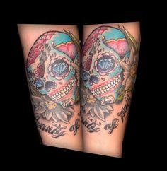 tatuaje calavera de azúcar tattoo sugar skull www.13depicas.com