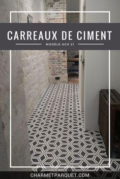 Ici, les carreaux de ciment hexagonaux HCH 21 dans le couloir d'un client. Qu'en pensez-vous ?