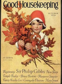 Jessie Willcox Smith Cover Only 1926 Original Little Girl Fall Leaves | eBay