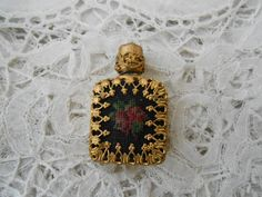 Petit point perfume bottle 1930's miniature for by Nkempantiques, €18.00