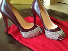 glitter toe heels