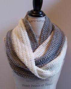 beginner #crochet infinity scarf free pattern