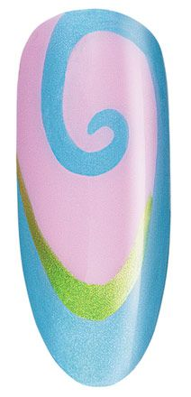 Sweet Swirl: Click the photo to find the step by step instructions and other beautiful nail art by CND.