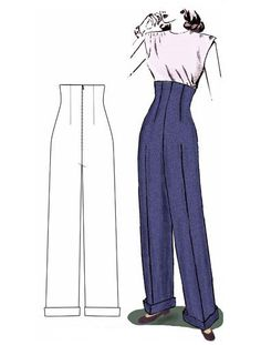 1940s empire pants Decades of Style