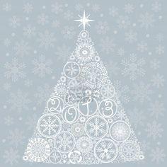 Carte De Noël Vintage. Arbre De Noël Belle Illustration Clip Art Libres De Droits , Vecteurs Et Illustration. Image 10938054.