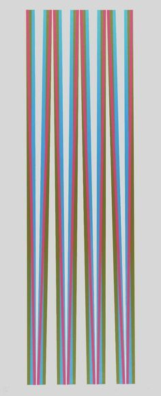 Bridget Riley, 'Elongated Triangles 5' 1971