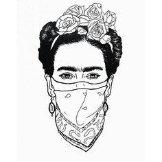 "Frida, the Rebel. ""Frida Kahlo was an extraordinary individual who liked to… Frida Tattoo, Frida Kahlo Tattoos, Art Sketches, Art Drawings, Kahlo Paintings, Frida Art, Tattoo Portfolio, Arte Pop, Art Inspo"
