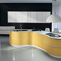Interior White Cabinet Designs With Islands Designer Luxury Yellow Bright Italian Kitchen Design Countertops Round Hanging Lamp Kitchen Ideas That Inspire You with Multi-Functional Furniture