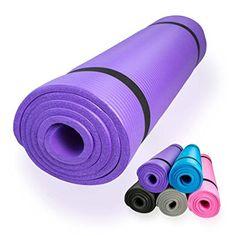 diMio Tapis de Yoga / Pilates 185x60cm 5 couleurs au choix 2 épaisseurs Antidérapant - lilas - 185 x 60 x 1.5 cm