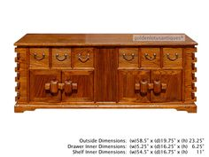 $800 Clearance SALE  Chinese Rustic Look Lower TV Stand Table Cabinet - Golden Lotus Antiques
