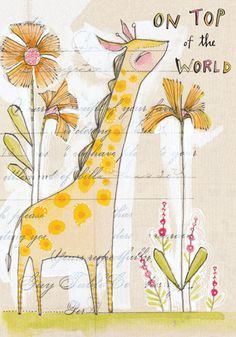 """""""On Top of the World. Happy Birthday!""""  Calypso Cards and Gift Products. #birthdaycard"""