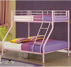 Combining a single bed on top and a double bed on the bottom the Nexus bunk bed provides a practical place for three people to sleep.