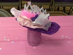 Princess centerpieces for baby shower.