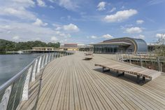 Rushden Lakes used Marley Antislip timber decking to create a durable and effective antislip surface for visitors Timber Deck, Shopping Near Me, Master Plan, Nature Reserve, Decking, Case Study, Lakes, Acre, Backdrops