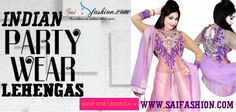 Indian Party Wear Lehengas - Looking for #Dresses for your party? #Saifashion has the solution for that. The best and the latest trendy Party Wear #Lehengas suitable for parties are in stock with us. For more products and other details please visit our online portal http://www.saifashion.com/index.php?route=product/search&search=Lehenga