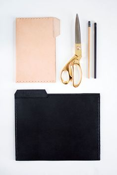 DIY Project: Leather Folders | Design*Sponge