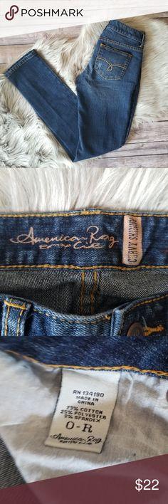 "American Rag curvy skinny jeans American Rag Curvy skinny jeans Size 0  approximate measurements: waist (laying flat)- 13.5"" inseam- 31"" rise- 7"" American Rag Jeans Skinny"