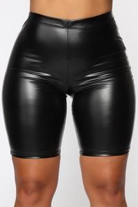 Available In Black And Neon GreenPu Leather Biker ShortsPull Polyester Spandex Mode Latex, Leder Outfits, Rough Riders, Leather Shorts, Pu Leather, Leather Jackets, Swimsuits For Curves, Fashion Nova Models, Sweater Shop