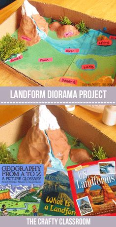 Study Landforms the FUN way! Make your own diorama with a few supplies you already have on hand (or in your yard.)